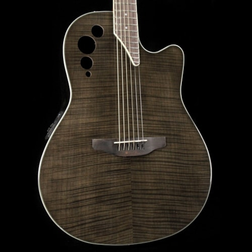Ovation Applause Elite Plus Acoustic Transparent Black Flame