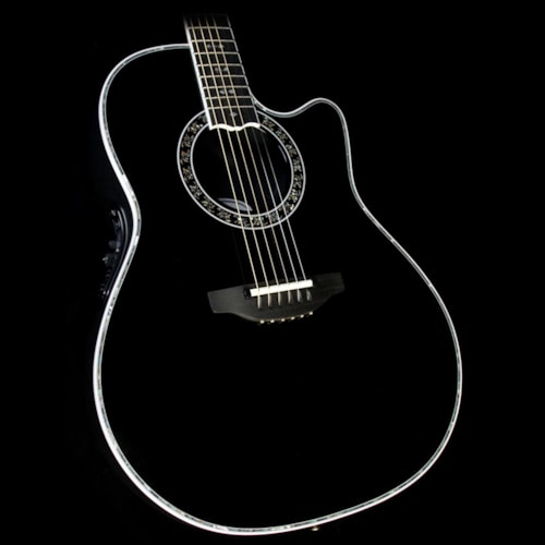 Ovation Custom Legend Deep Contour Acoustic Black Excellent, $1,699.00
