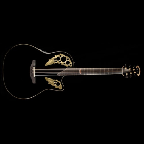 Ovation Limited Edition 50th Anniversary Custom Elite Acoustic-Electric Guitar Black Brand New, $3,499.00
