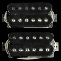 OX4 PAF Low-Wind Humbucker Pickup Set Black Bobbins