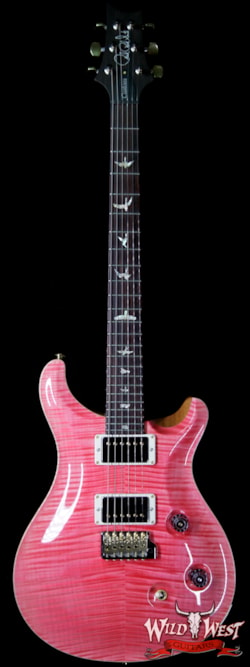2019 PRS - Paul Reed Smith PRS Wood Library 10 Top Custom 24 Flame Maple Top Brazilian Rosewood Fingerboard Bonnie Pink