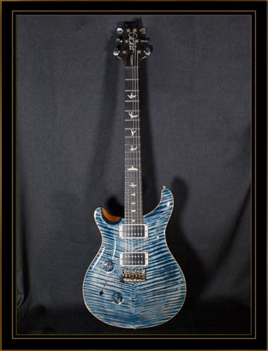 Paul Reed Smith Custom 24 Left-Handed with Figured Maple Neck Faded Whale Blue, Brand New, Original Hard