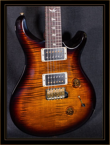 Paul Reed Smith Custom 24 with Rosewood Neck and 10 Top Black Gold Burst, Brand New, Original Hard, $4,299.00