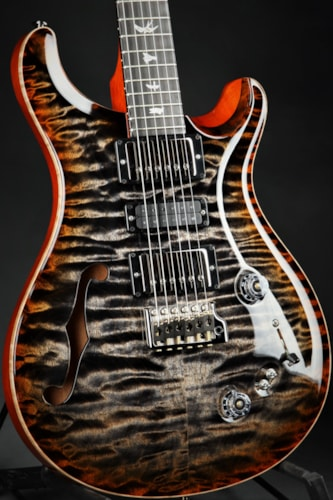 Paul Reed Smith (PRS) Eddie's Guitars Wood Library Special Semi Hollow - Burnt Maple Leaf/African
