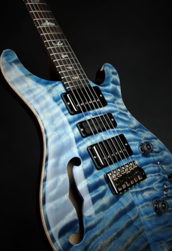 Paul Reed Smith (PRS) Eddie's Guitars Wood Library Special Semi Hollow - River Blue/Brazilian