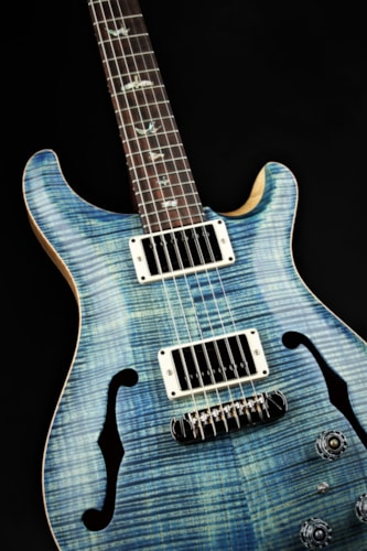 Paul Reed Smith (PRS) Eddie's Guitars Wood Library Hollowbody II - River Blue Satin/Brazilian