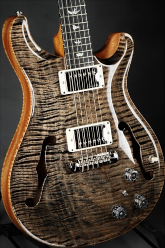 paul reed smith prs hollowbody ii piezo one piece ten top charcoal guitars hollow body. Black Bedroom Furniture Sets. Home Design Ideas