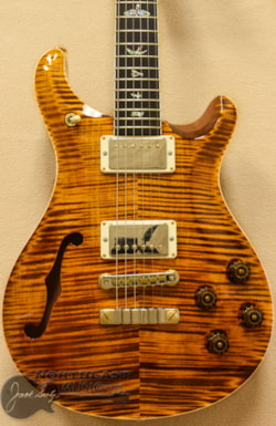 PAUL REED SMITH PRS Wood Library McCarty 594 Semi-Hollow - Yellow Tiger 10 Top
