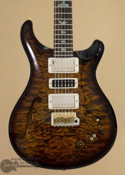 PAUL REED SMITH PRS Wood Library Special Semi Hollow - Black Gold Burst w/ Matching Maple Neck