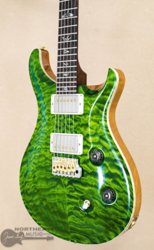 PRS Guitars Wood Library Custom 24 Fatback Quilted Maple 10 Top - Emerald Green