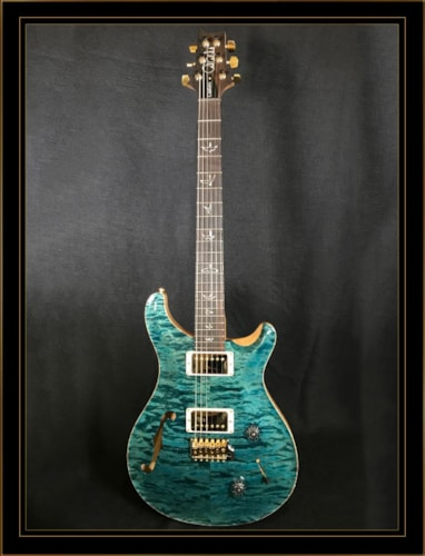 Paul Reed Smith Wood Library Custom 22 Semi-Hollow Blue Crab Blue, Brand New, Original Hard, $4,440.00