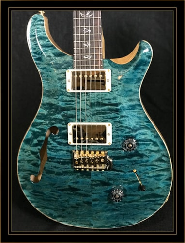Paul Reed Smith Wood Library Custom 22 Semi-Hollow Blue Crab Blue, Brand New, Original Hard