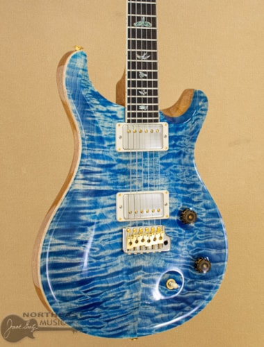 PRS Guitars Wood Library McCarty Trem Quilted 10 Top - Faded Blue Jean