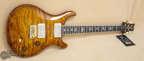 PRS Guitars Wood Library McCarty Trem Quilted Maple 10 Top - Violin Amber Sunburst