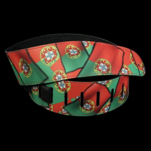 "Perri's Portugal Flag 2.5"" leather Guitar Strap Brand New, $25.99"