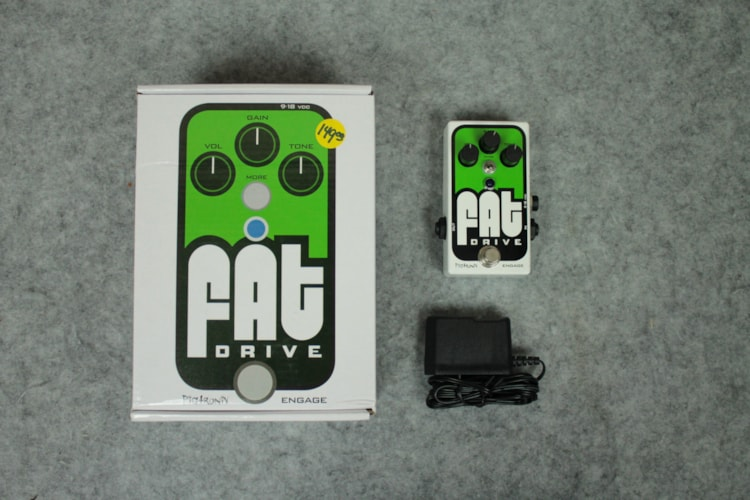 Pigtronix FAT Drive White & Green, Brand New