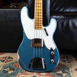 Pre-Owned Basses Pre-Owned Fender Custom Shop Lmited '55 Relic P Bass - Aged Lake Placid Blue
