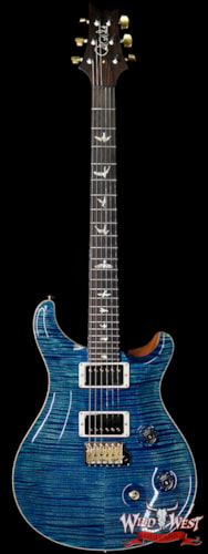 2019 Paul Reed Smith Wood Library Artist Package Custom 24 Flame Neck River Blue