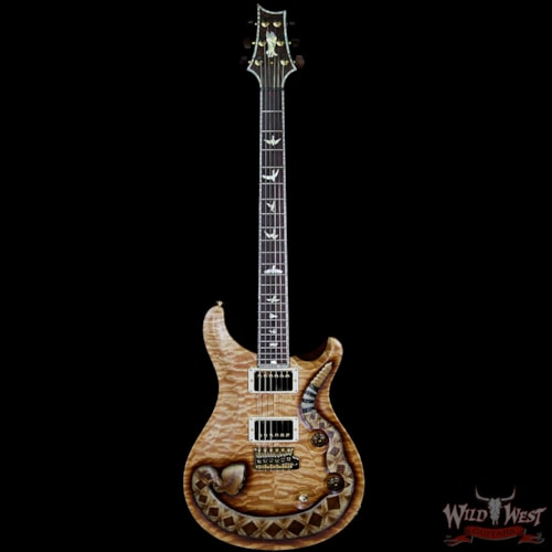 PRS - Paul Reed Smith PRS Private Stock Wild West Exclusive Custom 24 Snake LTD #5 of 6 Hand Carved Quilt Maple Top Natural, Brand New