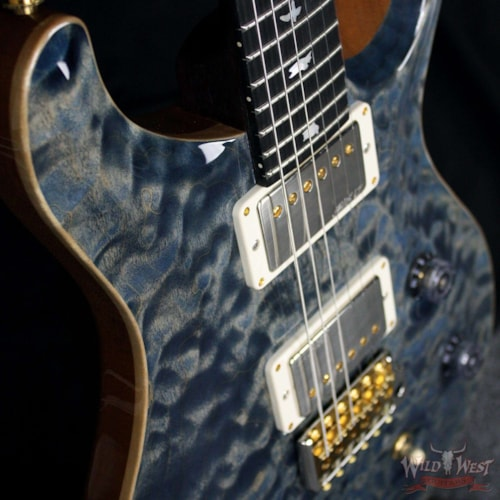 PRS - Paul Reed Smith PRS Wood Library 10 Top Fatback Custom 24 Quilt Top Faded Whale Blue W/Ebony Fretboard Faded Whale Blue, Brand New, $4,655.00