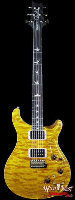 2019 PRS - Paul Reed Smith PRS Wood Library Artist Package Quilted Top Custom 24 Piezo P24 Brazilian Rosewood Board Santana Yellow