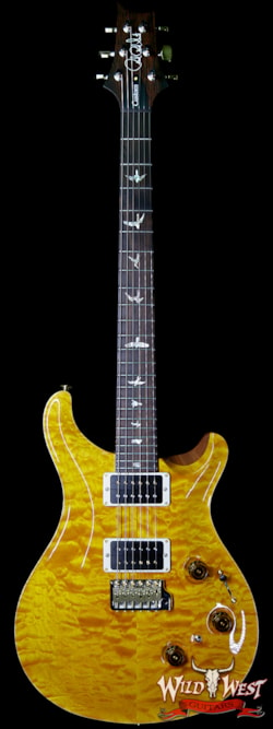 2019 PRS - Paul Reed Smith PRS Wood Library Artist Package Quilt Top Custom 24 Piezo P24 Brazilian Rosewood Board Santana Yellow