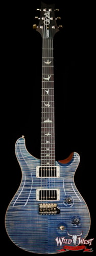 2019 PRS - Paul Reed Smith PRS Wood Library 10 Top Custom 24 Flame Maple Top Brazilian Rosewood Fingerboard Faded Blue Jean Faded Blue Jean