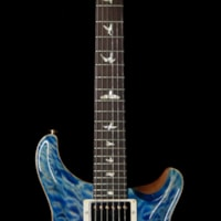 2019 PRS - Paul Reed Smith PRS Wood Library 10 Top Custom 24 Quilt Top Brazilian Rosewood Board Faded Blue Jean