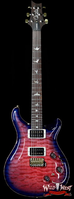 2019 PRS - Paul Reed Smith PRS Wood Library Artist Package Quilt Top Custom 24 Piezo P24 Brazilian Rosewood Board Bonnie Pink Blue Burst