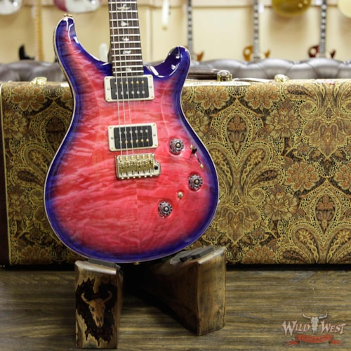 2019 PRS - Paul Reed Smith PRS Wood Library Artist Package Quilt Top P24 Custom 24 Piezo Brazilian Rosewood Board Bonnie Pink Blue Burst Bonnie Pink Blue Burst