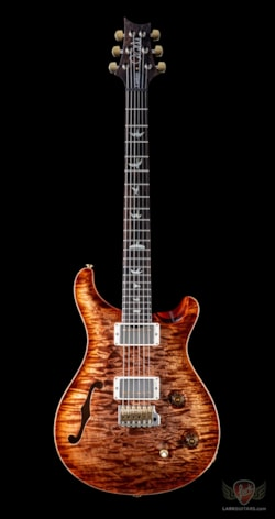 PRS Wood Library Custom 22 Semi Hollow Swamp Ash, 1 Piece Quilt 10 Top Maple Neck - Autumn Sky (428)