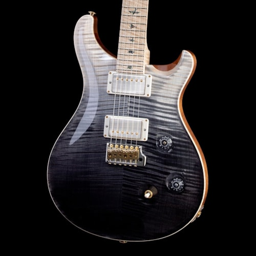 PRS Wood Library Custom 24 Flame 10 Top, Maple Neck, Maple FB - Gray Black Fade (052)