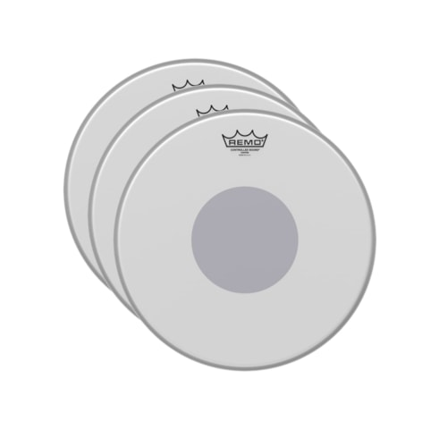 """Remo 14"""" Controlled Sound Coated Black Dot Drumhead (3 Pack Bundle)"""