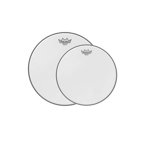 Remo 12/14 Ambassador White Suede Drumhead (2 Pack Bundle)