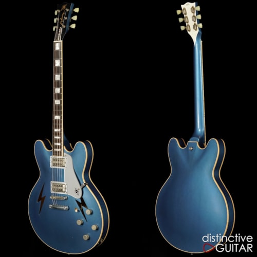 Rock n Roll Relics Lightning Semi Hollow Lake Placid Blue, Brand New, Original Hard