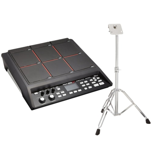 Roland SPDSX Sampling Pad Bundle w/ Roland PDS10 Stand for SPD Series Products