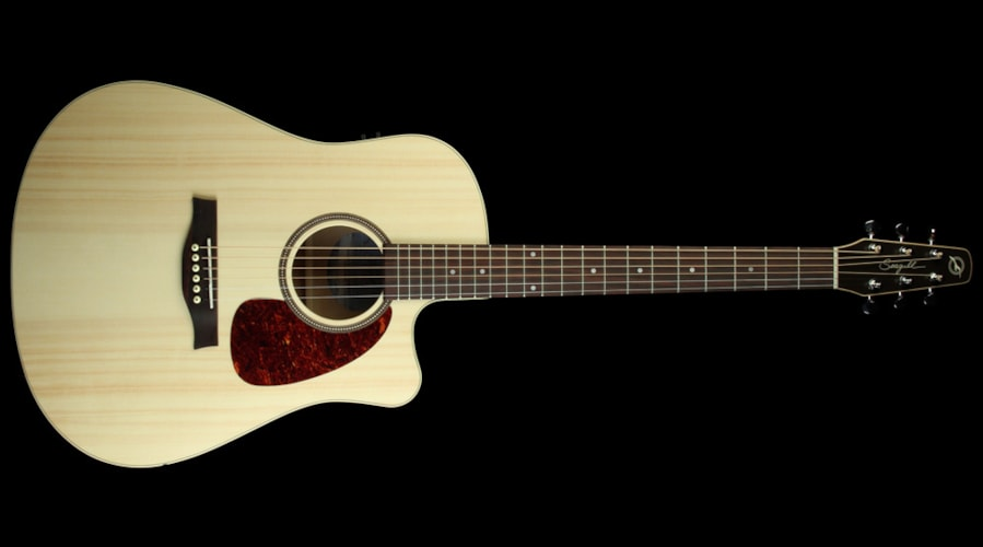 Seagull Used Seagull Coastline S6 Slim CW Q1 Acoustic-Electric Guitar Creme Brulee Semi-Gloss, Excellent, $549.00