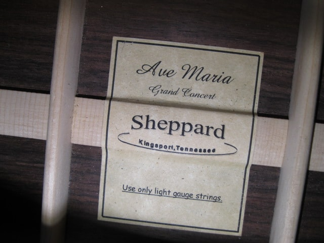 Sheppard Ave Maria Grand Concert Natural, Mint, Hard, $2,995.00