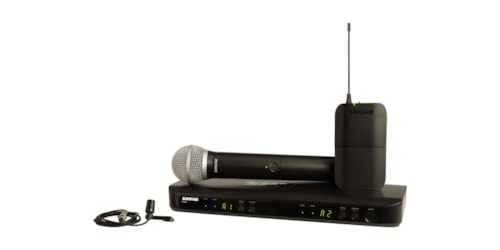 Shure BLX1288/CVL-J10 Dual Channel Combo Wireless Microphone System