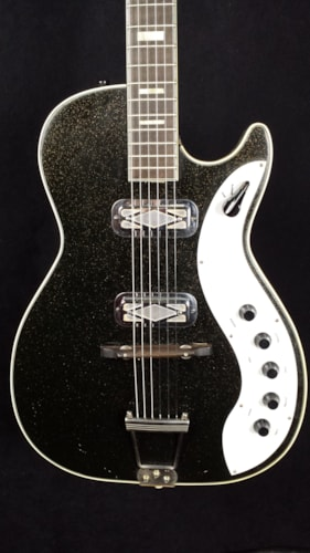Silvertone/Harmony 1423 Jupiter black sparkle, Very Good