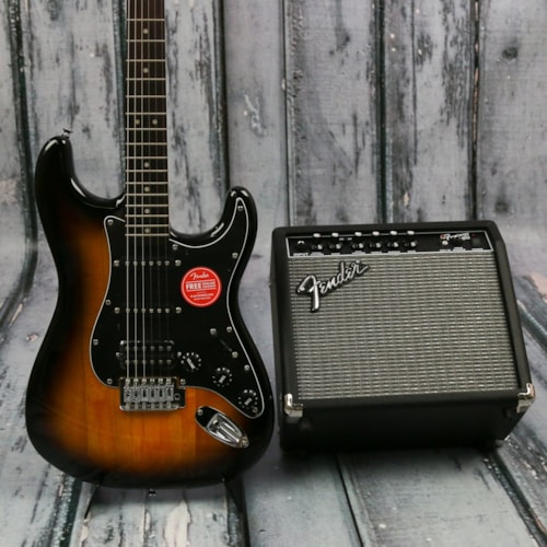 Squier Affinity Strat HSS Brown Sunburst Pack > Guitars Electric Solid Body  | Replay Guitar Exchange