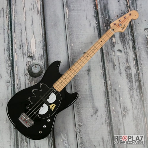 Squier Squier Badtz-Maru Bronco Bass - Black Very Good, $274.99