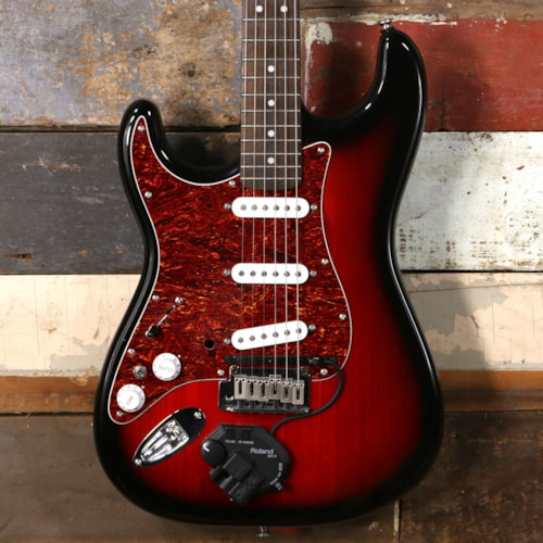 Squier Standard Stratocaster With Roland Synth Pickup Lefty Excellent