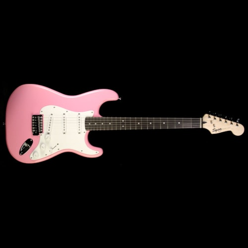 Squier Used Squier Bullet Stratocaster Electric Guitar Pink Pink, Excellent, $109.00