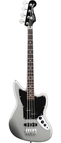 Squier Vintage Modified Jaguar Bass Special SS Silver Brand New $199.99