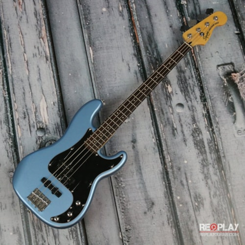squier vintage modified precision bass pj lake placid blue guitars bass replay guitar exchange. Black Bedroom Furniture Sets. Home Design Ideas