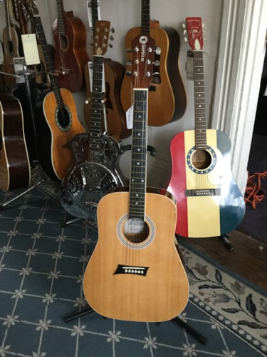 Stage 1 MKS1TQ Acoustic Guitar Natural, Good