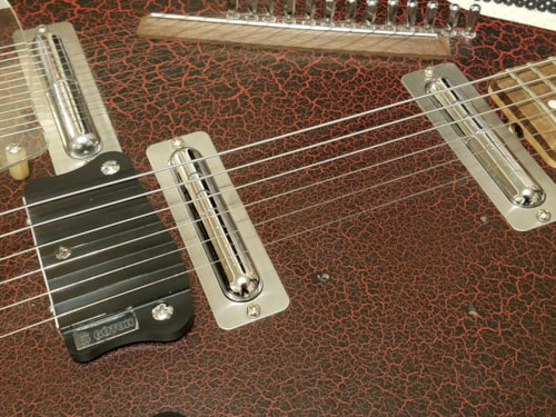 Star's ELS-1 Electric Sitar Red Crack