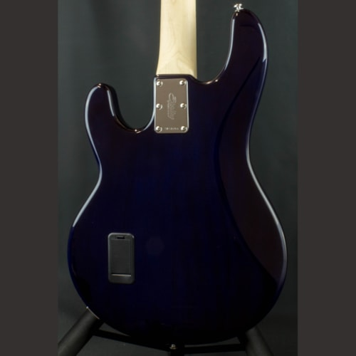 STERLING Ray34QM Maple Neck 4 String Bass Neptune Blue, Brand New, Original Soft, $799.00
