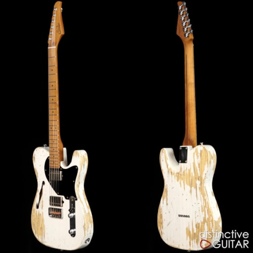 Suhr Custom Classic T Antique Extra Heavy Relic® Trans White, Brand New, $3,785.00